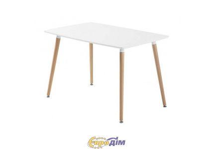 Стол обеденный NOLAN  DT-9017 MINI прямоугольный белый 110 см