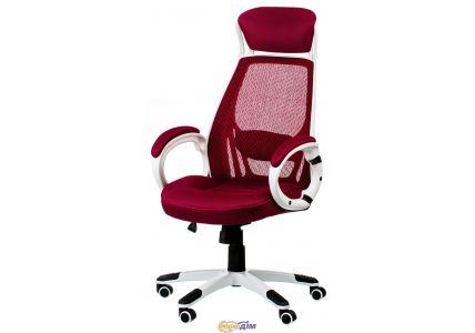 Кресло офисное Briz red/white