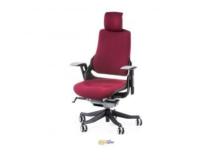 Кресло офисное Wau burgundy fabric