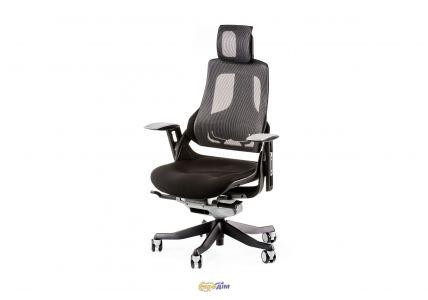 Кресло офисное Wau black fabric, charcoal nеtwork