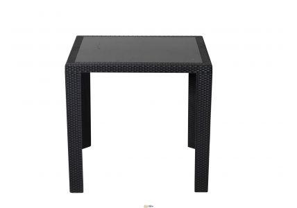 Стол обеденный SPRING II OW-T209S квадратный черный/стекло