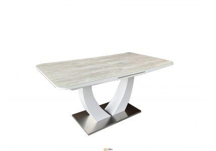 Стол обеденный Concord T-904 White с напылением керамической крошкой