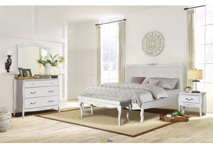 Кровать Александрия 1600 х 2000 белый/патина серебро