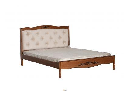 Кровать Александрия 1600 х 2000 орех/ткань