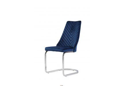 Стул X-1908 Carlos Blue velvet