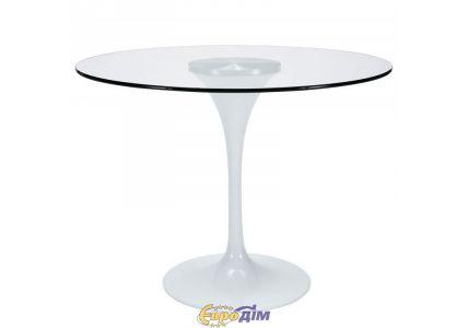 Стол обеденный Тюльпан стекло 80см