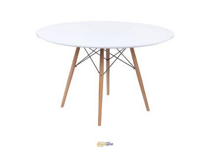 Стол обеденный Тауэр Вуд белый 120см