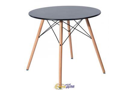Стол обеденный Тауэр Вуд черный 100см