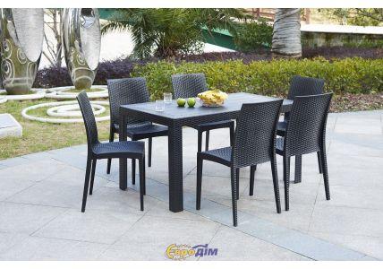 Стол обеденный SPRING OW-T209S прямоугольный черный