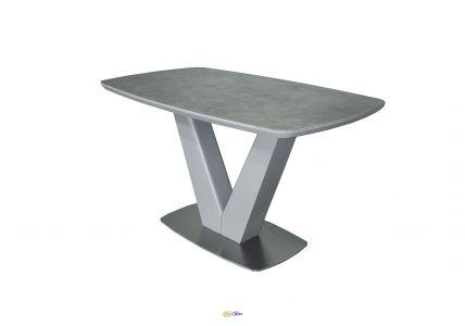 Стол обеденный CALIFORNIA T7242 Light Crey Satin Ceramic HY04
