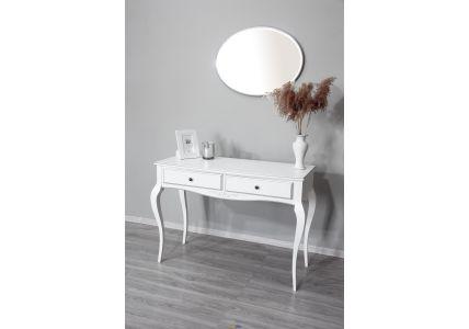 Стол туалетный Александрия белый/патина серебро