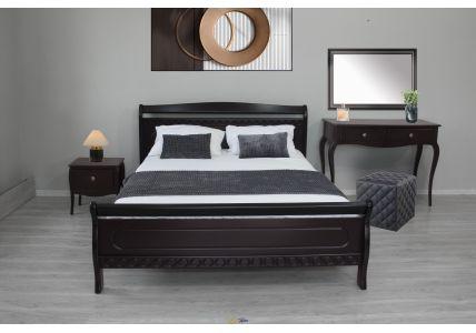 Кровать Виктория 160 х 200 темный орех