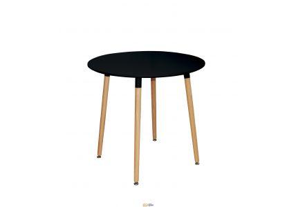 Стол обеденный NOLAN III DT-9017 круглый черный